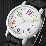 voordelige Modieuze horloges-Dames Modieus horloge Vrijetijdshorloge Kwarts / Vrijetijdshorloge Silicone Band Amulet Zwart Wit Blauw