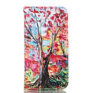 Для Кейс для  Samsung Galaxy Кошелек / Бумажник для карт / со стендом Кейс для Чехол Кейс для дерево Мягкий Искусственная кожа Samsung