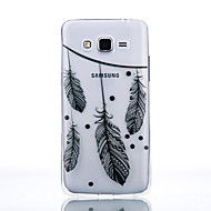 cheap Cases / Covers for Samsung-Case For Samsung Galaxy Samsung Galaxy Case Transparent Back Cover Feathers Soft TPU for J7 J5 (2016) J5 J3 (2016) Grand Prime Core Prime