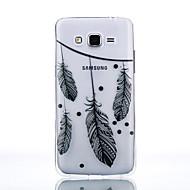 Недорогие Чехлы и кейсы для Galaxy J3(2016)-Кейс для Назначение SSamsung Galaxy Кейс для  Samsung Galaxy Прозрачный Кейс на заднюю панель Перья Мягкий ТПУ для J7 / J5 (2016) / J5