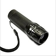 저렴한 손전등-LED손전등 LED - 싸이클링 조절가능한 초점 휴대성 AAA 50 루멘 배터리 사이클링