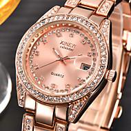 abordables Joyería y Relojes-Mujer Simulado Diamante Reloj Reloj de Pulsera Reloj de Vestir Reloj de Moda Cuarzo Calendario La imitación de diamante Acero Inoxidable