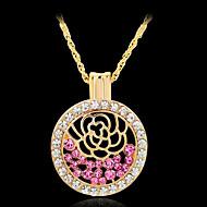 Ожерелье Ожерелья с подвесками Бижутерия Повседневные Модно Позолота Золотой / Белый / Красный 1шт Подарок