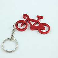 fiets stijl sleutelhanger& flesopener, aluminiumlegering 10 × 4 × 0,2 cm (4,0 × 1,6 × 0,1 inch) willekeurige kleur