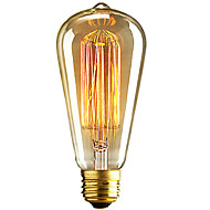 abordables Bombillas Incandescentes-1pc 40W E26 / E27 ST64 Blanco Cálido 2300k Retro Regulable Decorativa Bombilla incandescente Vintage Edison 220-240V