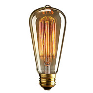 abordables Bombillas Incandescentes-brelong 1 pc e27 40w st64 dimable edison bombilla decorativa blanco cálido