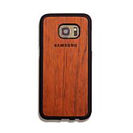 Для Кейс для  Samsung Galaxy Чехлы панели Рельефный Задняя крышка Кейс для Слова / выражения Твердый Дерево для Samsung S7 edge S7