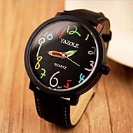 Недорогие Фирменные часы-YAZOLE Жен. Модные часы Повседневные часы Кварцевый Повседневные часы Кожа Группа Черный Коричневый