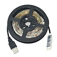 お買い得  -JIAWEN 1m フレキシブルLEDライトストリップ 30 LED 5050 SMD RGB カット可能 / 防水 / 車に最適 5 V / # / IP65 / ノンテープ・タイプ