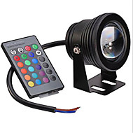 voordelige LED-schijnwerperlampen-10W 480lm Festoen Onderwaterlampen Verzonken ombouw 1 LED-kralen Geïntegreerde LED Dimbaar Decoratief Op afstand bedienbaar RGB 12V
