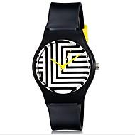abordables Relojes para Chico-Reloj de Pulsera Cool / Colorido Plastic Banda Caramelo / Casual Negro / Blanco / Azul