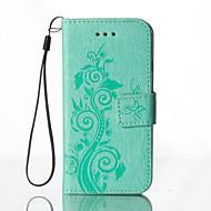 Για Θήκη HTC Πορτοφόλι / Θήκη καρτών / με βάση στήριξης / Ανάγλυφη tok Πλήρης κάλυψη tok Λουλούδι Σκληρή Συνθετικό δέρμα HTC HTC One M8