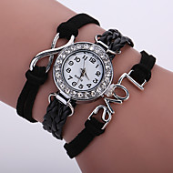 tanie Zegarki boho-Damskie Zegarek na bransoletce Modny Zegarek na nadgarstek Kwarcowy Kolorowy sztuczna Diament PU Pasmo Błyszczące Vintage Na co dzień