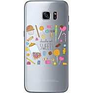 Для Samsung Galaxy S7 Edge С узором Кейс для Задняя крышка Кейс для Новогодняя тематика Мягкий TPU SamsungS7 edge / S7 / S6 edge plus /
