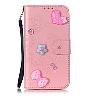 Для Кейс для  Samsung Galaxy Кошелек / Бумажник для карт / Стразы / со стендом / Флип / С узором / Рельефный Кейс для Чехол Кейс для