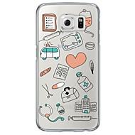 Недорогие Чехлы и кейсы для Galaxy S6 Edge Plus-Кейс для Назначение SSamsung Galaxy Samsung Galaxy S7 Edge Ультратонкий Полупрозрачный Кейс на заднюю панель Плитка Мягкий ТПУ для S7