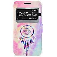 billige Galaxy J7 Etuier-For Samsung Galaxy etui Kortholder Med stativ Etui Heldækkende Etui Drømmefanger Hårdt Kunstlæder for Samsung J7 J5 J3 J3 (2016)