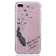 Назначение iPhone 8 iPhone 8 Plus iPhone 7 iPhone 7 Plus iPhone 6 Чехлы панели С узором Задняя крышка Кейс для  Перья Мягкий Термопластик