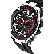 Недорогие Фирменные часы-SANDA Муж. Спортивные часы / Смарт Часы / Наручные часы Секундомер / Защита от влаги / LED силиконовый Группа Роскошь / На каждый день / Мода Черный / Серебристый металл / Нержавеющая сталь