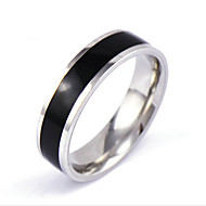 Men's Band Ring - Crystal Personalized, Punk, Rock 6 / 7 / 8 Silver For Daily / Casual