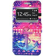 voordelige Galaxy J3(2016) Hoesjes / covers-hoesje Voor Samsung Galaxy Samsung Galaxy hoesje Kaarthouder met standaard Volledig hoesje Anker Hard PU-nahka voor J7 J5 J3 (2016) J3