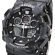 Недорогие Фирменные часы-EXPONI Муж. Кварцевый Наручные часы Армейские часы Спортивные часы Будильник Календарь Секундомер Защита от влаги LED Хронометр