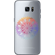 Недорогие Чехлы и кейсы для Galaxy S6 Edge Plus-Кейс для Назначение SSamsung Galaxy Samsung Galaxy S7 Edge С узором Кейс на заднюю панель Цветы Мягкий ТПУ для S7 edge / S7 / S6 edge plus