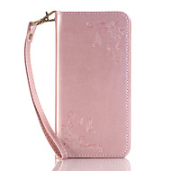 Для Кейс для  Samsung Galaxy Бумажник для карт / Кошелек / со стендом / Флип / С узором Кейс для Чехол Кейс для Цветы Твердый