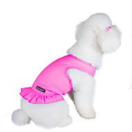 お買い得  -ネコ / 犬 ドレス 犬用ウェア ソリッド パープル / ピンク / ライトブルー コットン コスチューム ペット用 夏 女性用 ファッション