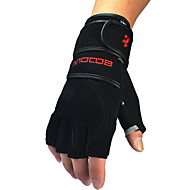 2016 Long Wrist Fitness Gloves Wear Non-slip Leather Palm Weightlifting Men's Training Gloves 1 Pair