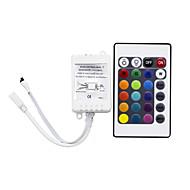 tanie Kontrolery RGB-HRY 1 szt. Pilot podczerwieni Kontroler RGB Plastikowy Przysłonięcia dla diody LED RGB Strip 24 klucze