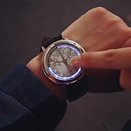 olcso Divatóra-Férfi Karóra Egyedi kreatív Watch Digitális Érintőképernyő LED Bőr Zenekar Fekete