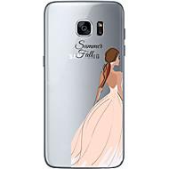 Для Samsung Galaxy S7 Edge С узором Кейс для Задняя крышка Кейс для Соблазнительная девушка Мягкий TPU SamsungS7 edge / S7 / S6 edge plus