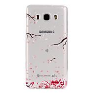 Недорогие Чехлы и кейсы для Galaxy J5(2016)-Кейс для Назначение SSamsung Galaxy Кейс для  Samsung Galaxy С узором Кейс на заднюю панель Цветы Мягкий ТПУ для J7 (2016) J5 (2016) J3