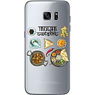 olcso Samsung tokok-Case Kompatibilitás Samsung Galaxy Samsung Galaxy S7 Edge Minta Fekete tok Karácsony Puha TPU mert S7 edge S7 S6 edge plus S6 edge S6
