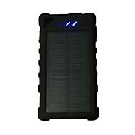 電源銀行外部バッテリ 5V 1.0A #A バッテリーチャージャー フラッシュライト マルチシュッ力 太陽光充電 LED