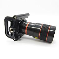 tanie Fotografia smartfonem-Uniwersalny 8X teleobiektyw z Universal metalowym klipem na Telefon Komórkowy - czerwony + czarny
