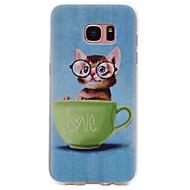 お買い得  携帯電話ケース-ケース 用途 Samsung Galaxy S8 Plus / S8 パターン バックカバー 猫 ソフト TPU のために S8 Plus / S8 / S7 edge