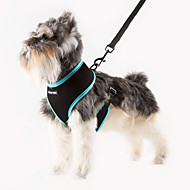 cheap Household & Pets Accessories-Cat Dog Harness Adjustable / Retractable Breathable Solid Nylon Mesh Orange Rose Green Blue