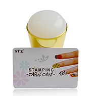 1pcs novo silicone prego Stamper Arte conjuntos jumbo geléia mole diy polonês stamper raspador estênceis instrumentos de manicure y_nd215