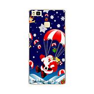 Mert Minta Case Hátlap Case Karácsony Puha TPU Huawei Huawei P9 / Huawei P9 Lite / Huawei P8 / Huawei P8 Lite