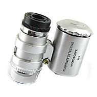 Χαμηλού Κόστους Πρωτότυπα φωτιστικά LED-μίνι 60x μικροσκόπιο οδήγησε κοσμημάτων φακό UV ανιχνευτής νόμισμα φορητό μεγεθυντικός φακός μεγεθυντικό φακό του ματιού γυαλί με οδήγησε