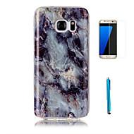 halpa Galaxy S4 kotelot / kuoret-Etui Käyttötarkoitus Samsung Galaxy S7 edge S7 Kuvio Takakuori Marble Pehmeä TPU varten S7 edge S7 S6 edge S6 S5 S4