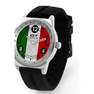 Heren Sporthorloge Modieus horloge Polshorloge Kwarts / Silicone Band Vrijetijdsschoenen Zwart