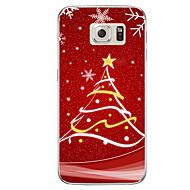Кейс для Назначение SSamsung Galaxy S7 edge S7 Полупрозрачный С узором Задняя крышка Рождество Мягкий TPU для S7 edge plus S7 edge S7 S6