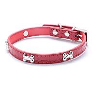 お買い得  -ネコ 犬 カラー 調整可能 / 引き込み式 ランニング ハンドル無し カジュアルスーツ コスプレ 幾何学的な PUレザー ブラック レッド ブルー ピンク