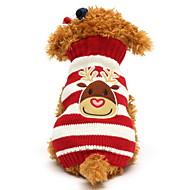 고양이 강아지 스웨터 강아지 의류 귀여운 크리스마스 순록 블랙 레드 그린 블루 코스츔 애완 동물