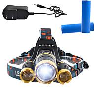Linternas de Cabeza LED 3000 Lumens 4.0 Modo Cree T6 Sí Recargable Control de Ángulo Super Ligero Regulable para
