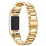 Черный / Роуз / Золотистый / Серебристый Нержавеющая сталь Классическая застежка Для Fitbit Смотреть 20мм