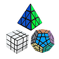 3Pcs Rubik's Cube Shengshou Smooth Speed Cube Pyraminx Alien Megaminx Mirror Cube Speed Professional Level Magic Cube ABS Tower New Year
